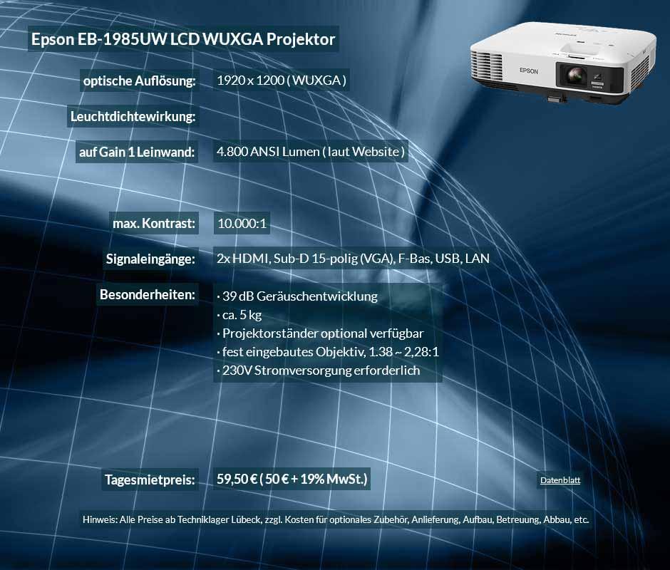 Projektor Mietangebot Epson EB-1985WU